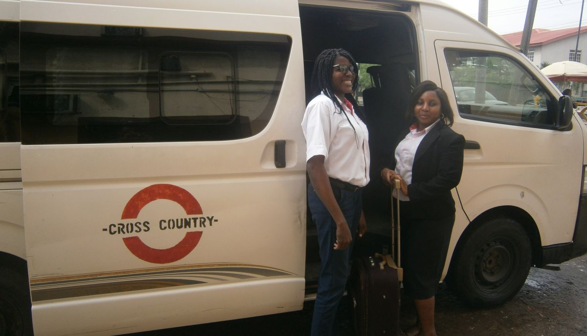 Two Cross Country nigeria mini buses